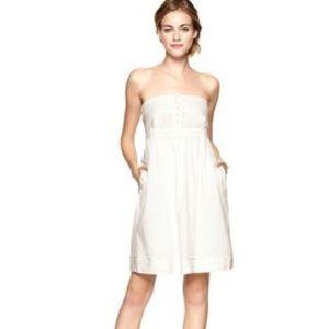 Strapless cotton mini dress